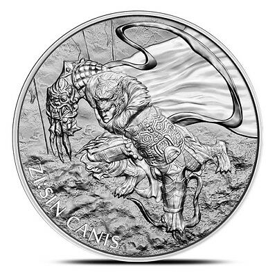 2018 South Korea 1 oz .999 Fine Silver 1 Clay ZI:SIN Canis Medal