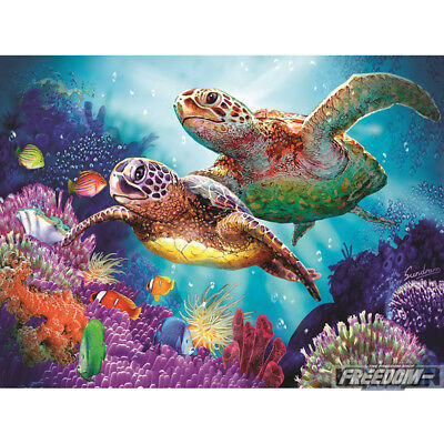 5D DIY Full Drill Square Diamond Painting Sea Turtle Embroidery Mosaic Kit #BU