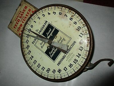 Vintage Original PURINA FEED SAVER & COW CULLER SCALE
