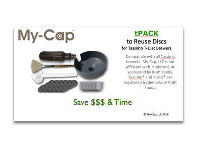 My-Cap tPACK - Make Your Own Reusable Disc for Tassimo T-Disc Brewers