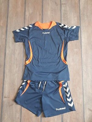 Hummel Trikot Set/ Shirt mit Hose Blau Orange Gr. 158