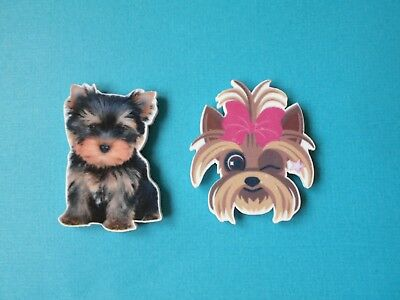 Cute Yorkshire Terrier Fridge Magnet Acrylic Shaped Dog or Puppy Yorkie