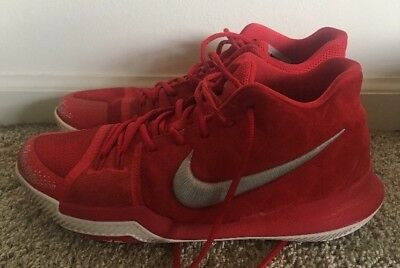 66d2477b662 NIKE KYRIE IRVING 3 Basketball Shoes Mens Size 10 Used Red -  26.00 ...