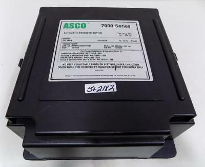 Asco 7000 Ser. 200A 240V 1Ph 50/60Hz Automatic Transfer Switch D07Atsa20200F5Xm