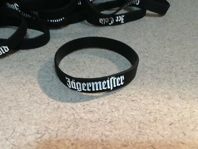 Lot of 100 NEW Jagermeister Rubber Bracelets / Bands Jager Wristbands