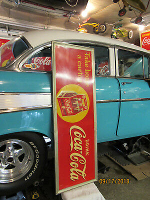 Vintage 1940  Coca Cola Sign with SIX PACK CARTON