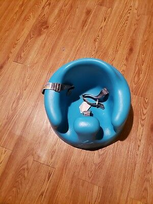 Blue Bumbo Seat with Buckles