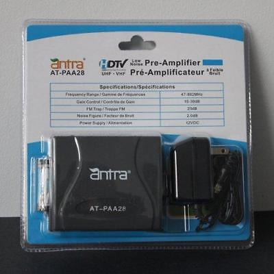 Antra™AT-PAA28 Low Noise Pre-Amplifier HDTV Pre-amp Signal Booster for UHF VHF A