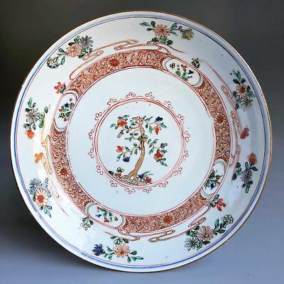 TOP Ø22cm antique KANGXI FAMILLE VERTE DISH 18th century Chinese porcelain plate