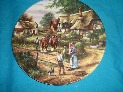 Wedgwood - Country Days - Ploughing - Collector Plate