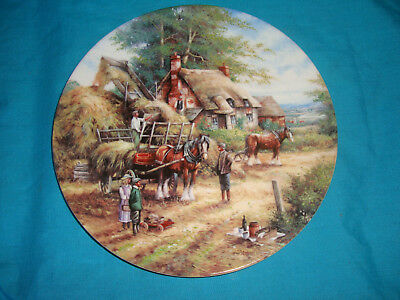 Wedgwood - Country Days - Making the Hayrick - Collector Plate