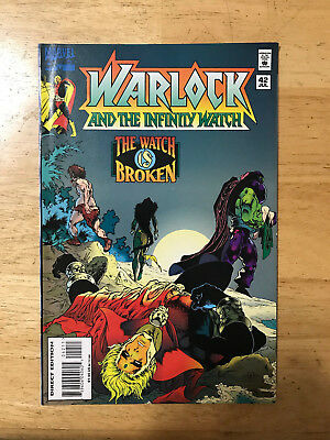 Warlock and the Infinity Watch #42 VF/NM HTF last issue Thanos Marvel Comics