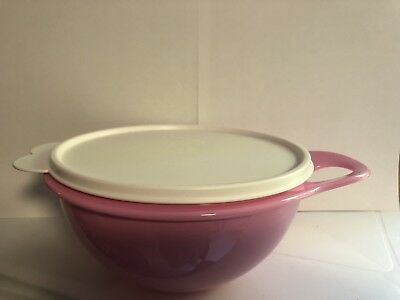Tupperware Thatsa Bowl Mixing Serving & Storage in 6 Cup Light Pink Bowl New