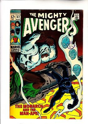 Avengers 62 1st app of Man Ape 1st solo Black Panther story Jungle Action 5 rep