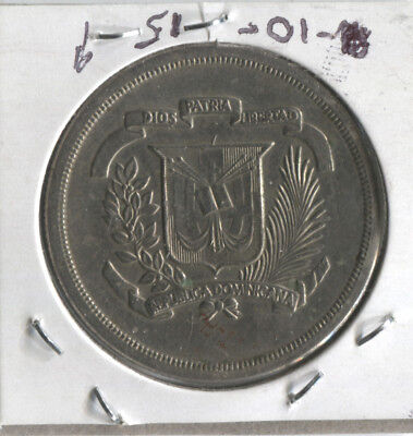 Dominicana / Dominican Republic - Medio Peso - 1/2 Peso - 1981 - high grade coin