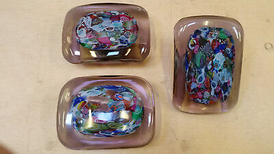 Glass Door handle x3 60s style retro flower power industrial