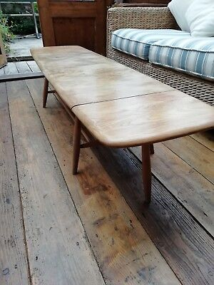 Vintage Ercol Extending Coffee Table With Magazine Rack