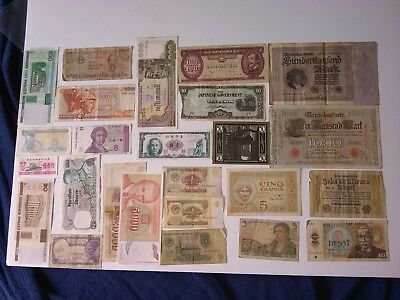 WORLD MIX Banknotes foreign Europe lot of 25 pcs. paper money VINTAGE