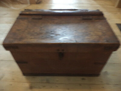 Vintage Antique Leather Trunk Military Army Navy Capt Bedford Family London