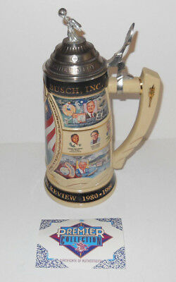 NICE LTD# of 5000 Anheuser Busch 20th Century In Review Series 1980-1999 Stein