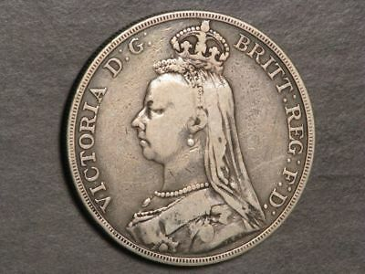 GREAT BRITAIN 1888 1 Crown Victoria Silver Fine