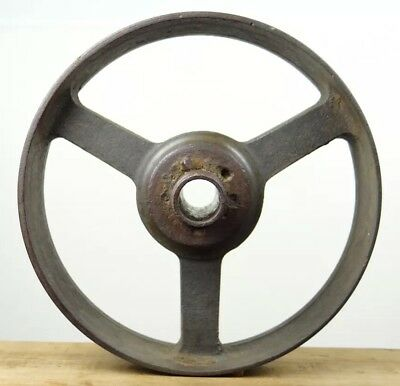 ANTIQUE CAST IRON TWIST WHEEL Great For Lamp base Stand Steampunk Project