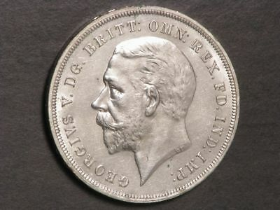 GREAT BRITAIN 1935 1 Crown George V Jubilee Silver AU-UNC