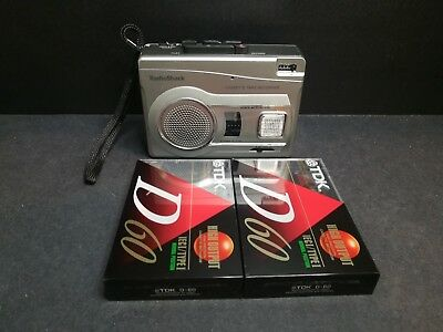 Radio Shack CTR-122 Portable VOX Voice Activated Tape Cassette Player Recorder