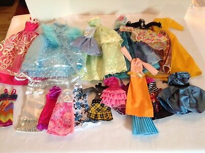 Lot 20 Pieces Barbie Doll Gowns Dresses Some Mattel & Others