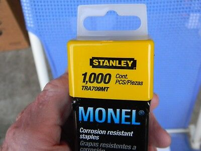 "STANLEY MONEL Staples 1000pkTRA709MT 9/16"" 14mm Corrosion Resistant & ARROW T-50"