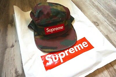 4b79828f554 SOLD OUT SUPREME SS18 Military Camo Camp Cap Blue NEW -  85.00 ...