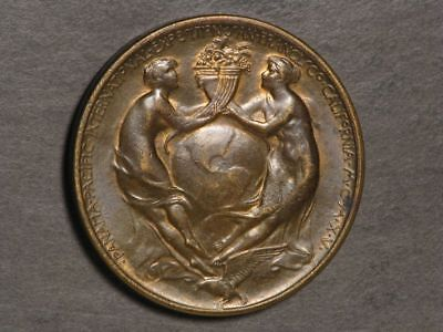 USA-Medal 1915 Pan-Pac Expo HK-400 So-Called Dollar 38mm Bronze UNC