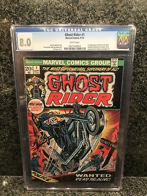 CGC Ghost Rider #1 September 1973 8.0 Graded Marvel Comic White Pages