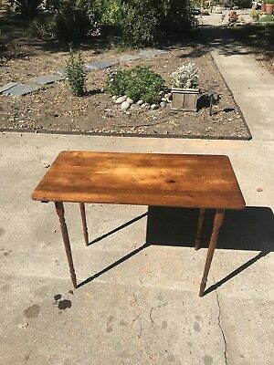 Vintage Sewing Table Wood Stand Folding patio plant stand craft table antique