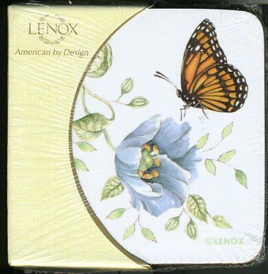 NEW Lenox BUTTERFLY MEADOW Square Corkback Coasters SET OF 4