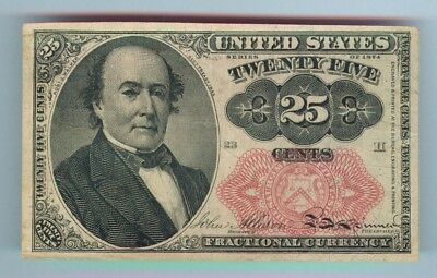 25¢ Fractional Currency - Series 1874 - 5Th Issue - Cat. #1309 - Xf To Au