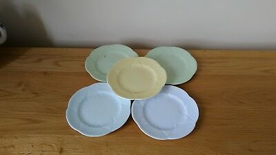 "SHELLEY BONE CHINA  SIDE PLATES X 5      ""Star"""
