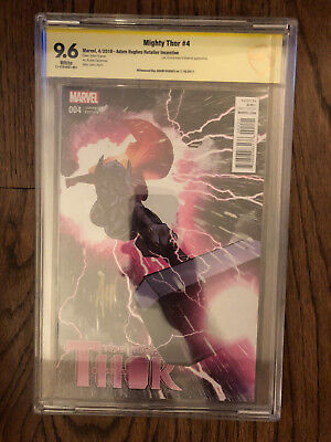 CBCS 9.6 Mighty Thor #4 variant signed by Adam Hughes
