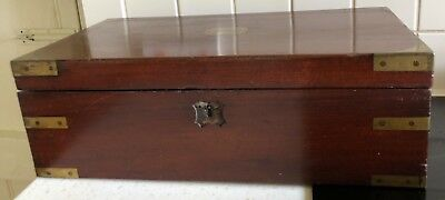 EARLY 19C MAHOGANY WRITING SLOPE WITH DRAWER for complete restoration A/F