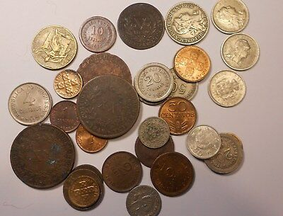 portugal lot of 28 coins - excelent coins  with 1830 (azores) D.Maria II