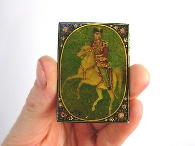 4 VERY HIGH QUALITY 19thc QAJAR PLAYING CARDS islamic antiques