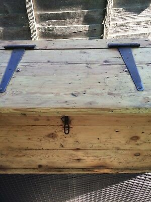 Antique Solid Pine Tool Box /storage Box