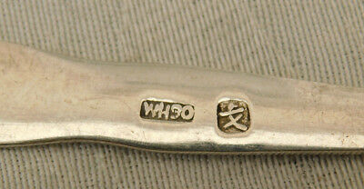 Unusual Signed WH90 Chinese Hong Kong ? Silver Small Fork