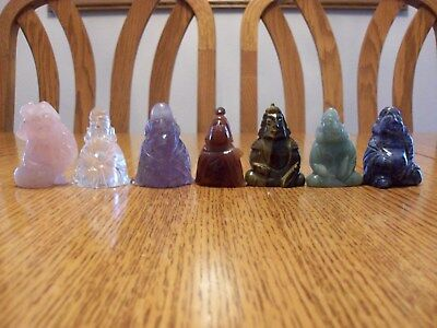 Lot Chinese Asian Carved Stone Japanese Seven Lucky Gods Statue Figure Figurines