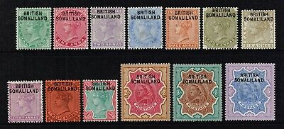 British Somaliland 1903 Queen Victoria set to 5r., MH (SG#1/13)