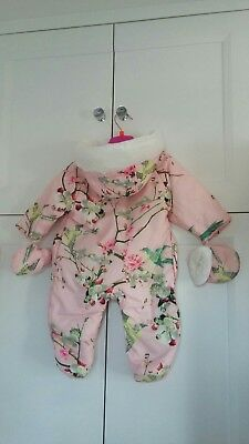 Ted Baker Baby Girl Snowsuit -size 0-3 months