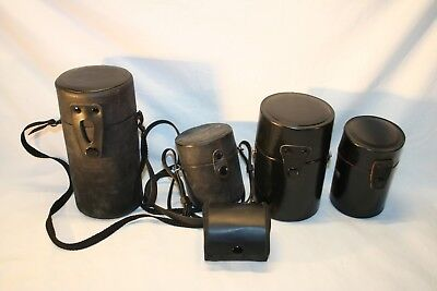 Lot of 5 Misc. Hard Camera Lens Protective Cases............(L15)