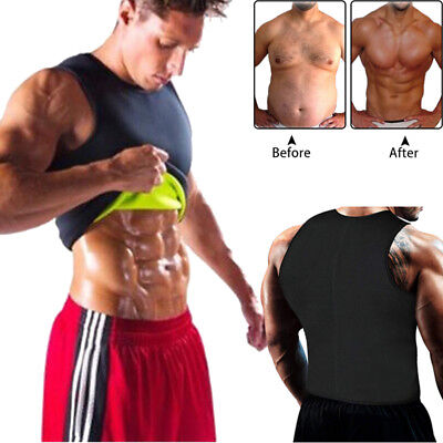 Men Neoprene Sauna Thermo Sweat Body Shaper Waist Trainer Gym Slim Corset Vest.