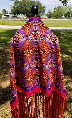Diamond Lake, Native American Style Shawl,Prayer,Meditation,Regalia, 14in Fringe