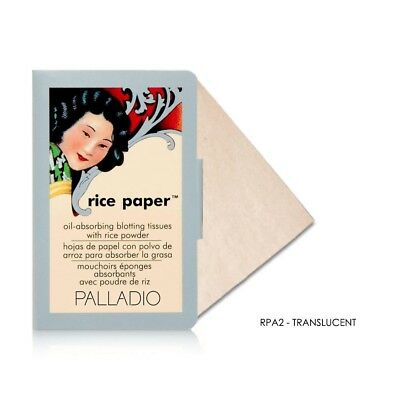 Palladio Oil Absorbing Blotting Rice Paper Tissue 40 Sheets YOU PICK SHADE